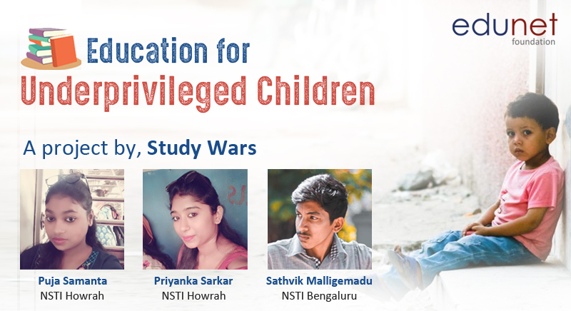 Education for Underprivileged Children | A project by, Study Wars