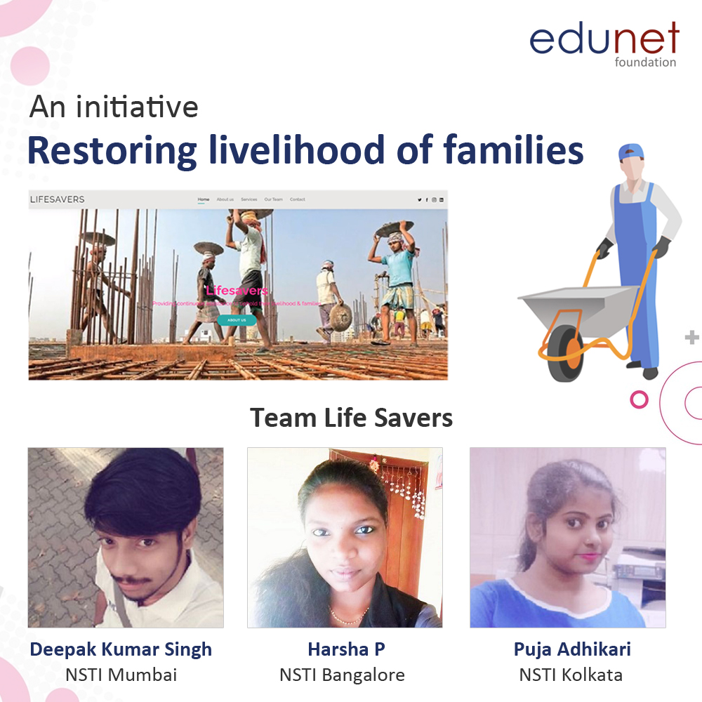 Restoring Livelihood of Families an initiative by team Life Savers